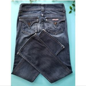 Hudson distressed bootcut jeans